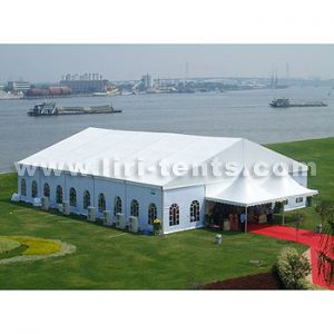 BT20x25m tent with 2 pagoda reception