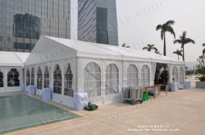 new party tent 9x12m with clear windows
