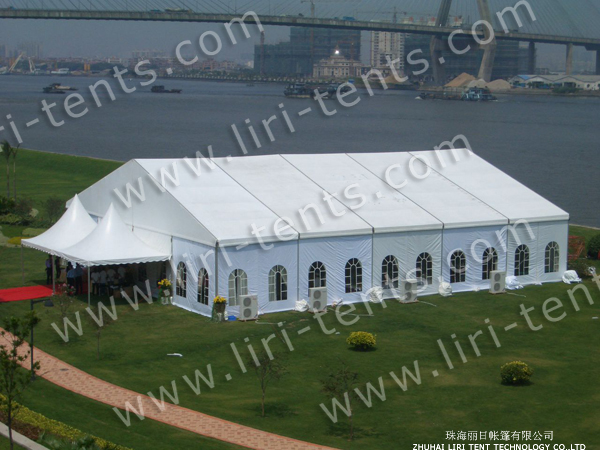 Big Party Tent with Pagoda Entrance