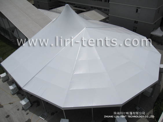 30m Curved Structure Mixed Party Tent For Sale