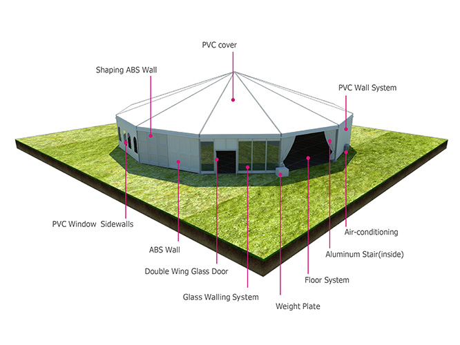 Liri Octagon Tent 15m for WTA in Zhuhai