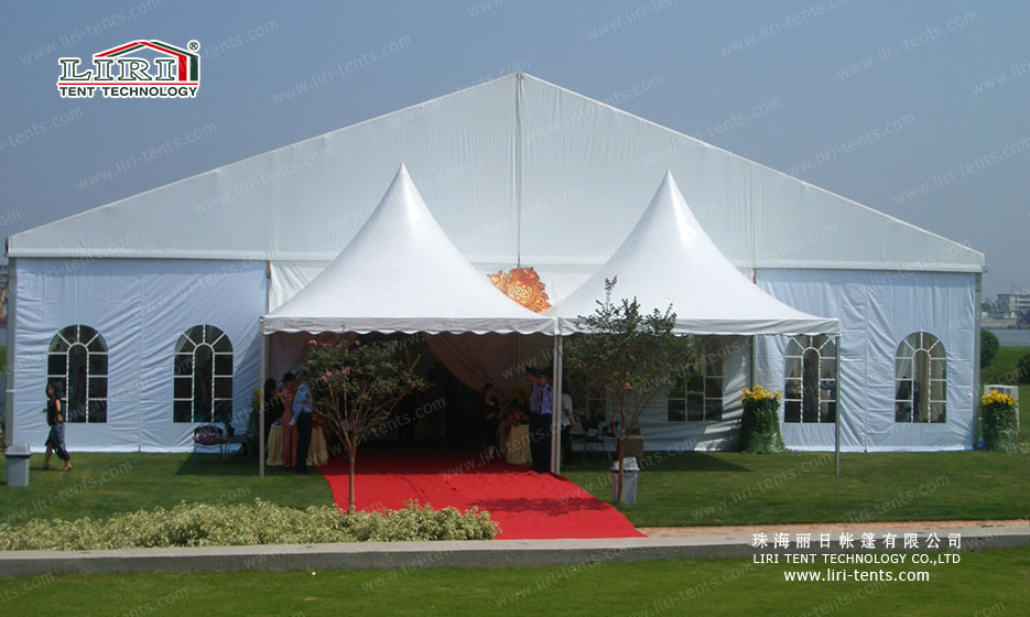 Outdoor Wedding Marquee Tents with Luxury Decorations
