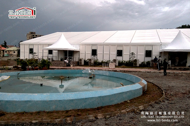 20x50m church tent with ABS walls