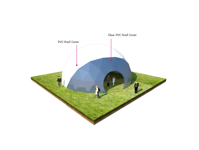 Half Sphere Geodesic Dome Tent for Events
