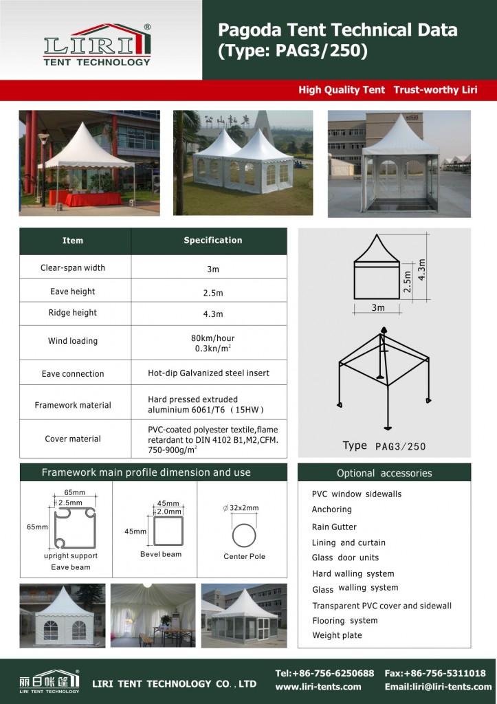 Pagoda Tent 3m