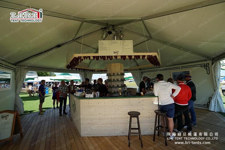 Hexagonal Tent for outdoor catering
