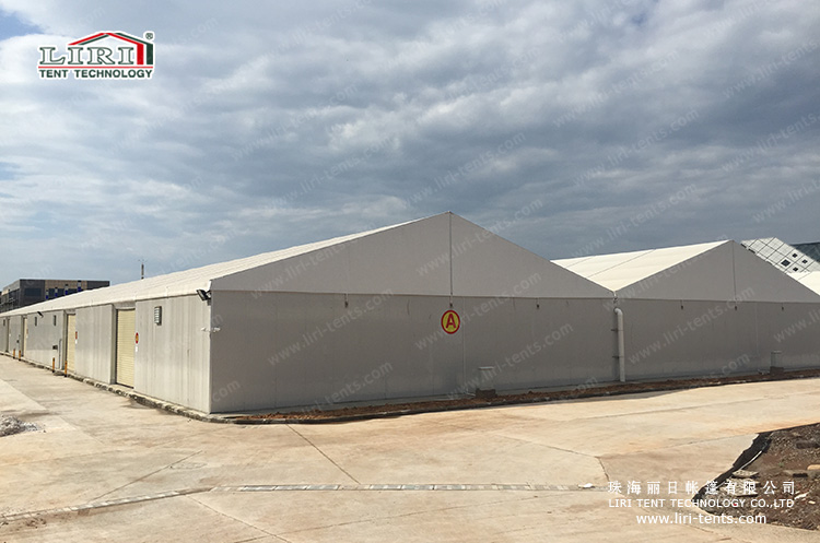 Warehouse Tent with Rolling Door and Sandwich Wall