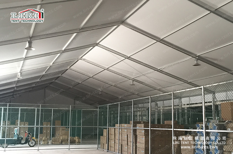 Warehouse Tent with Lighting System