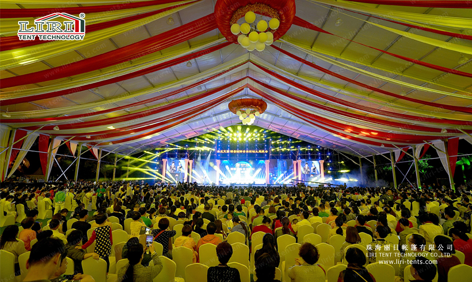 Aluminum structure event tent for music festival