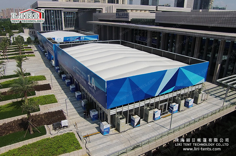 25m Inflatable Roof Double Decker Glass Structures Tent