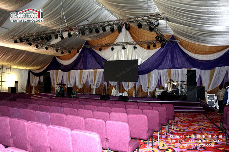 church tent with lighting facility