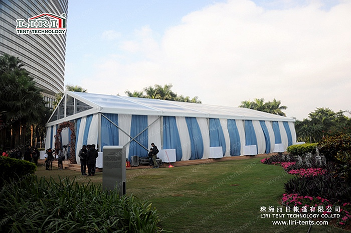 15 by 25m transparent tent for outdoor events