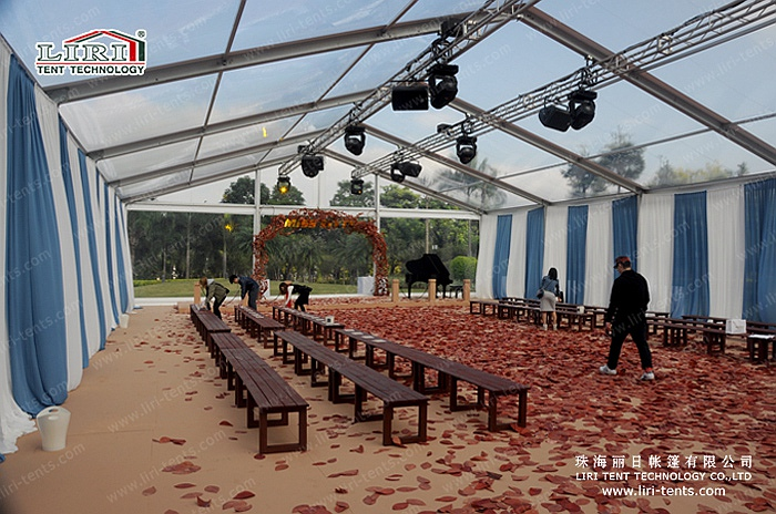 15x25m transparent tent for outdoor events