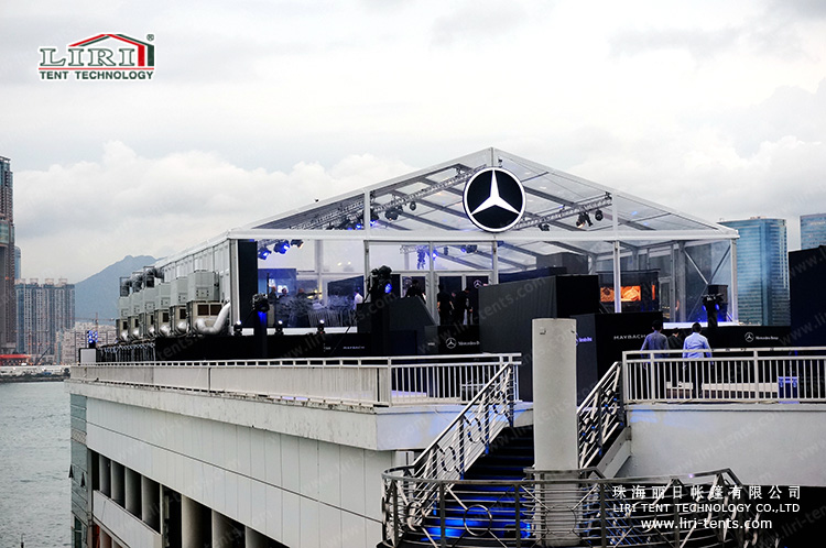 Luxury transparent event tent for Benz