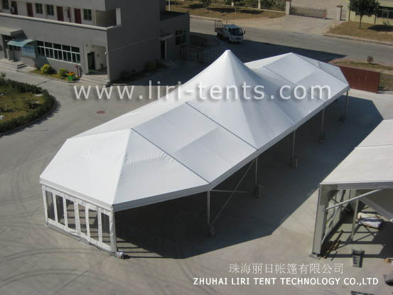 Beautiful 10x30m mixed tent with high peak