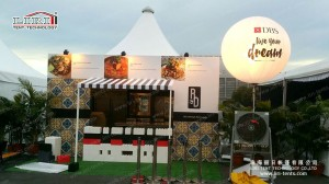 5X5M pagoda tent as Kitchen in Singapore (1)_副本
