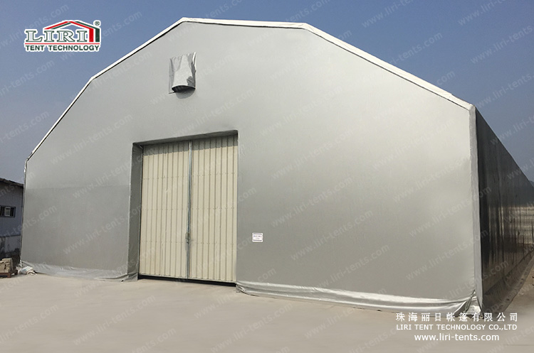 Large polygon tent for warehouse