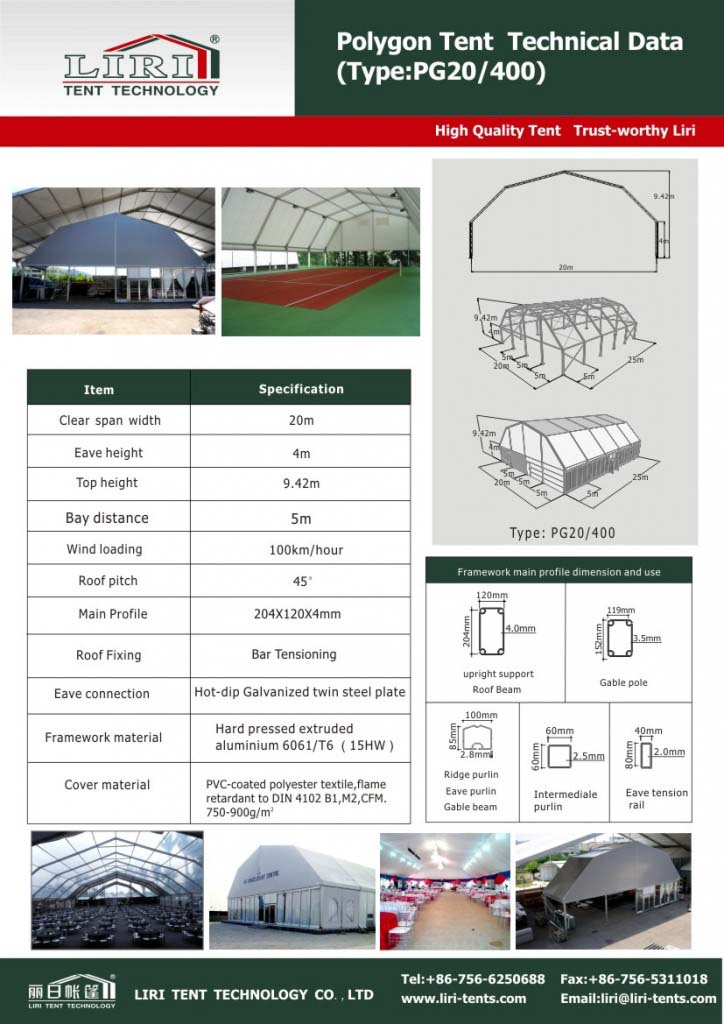 tent with pvc roof cover