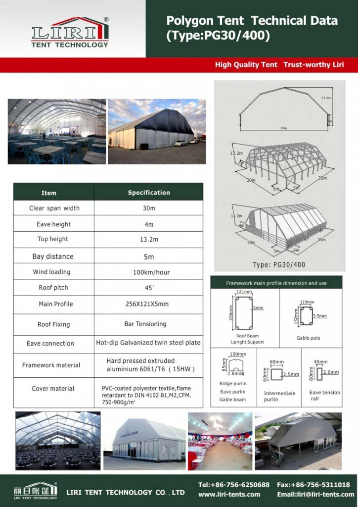 polygon aluminum structure tents