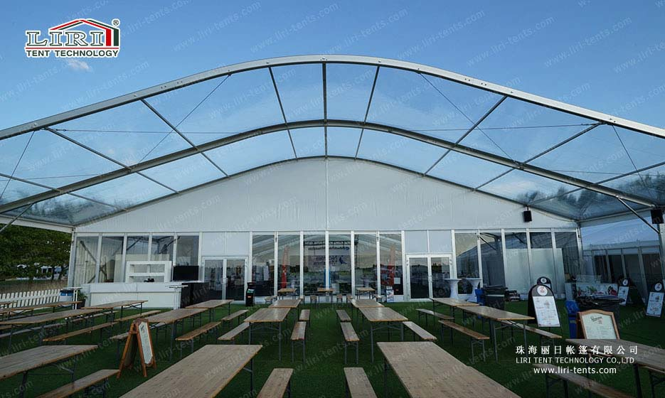 15m×25m Outdoor Event Marquee with Clear Top
