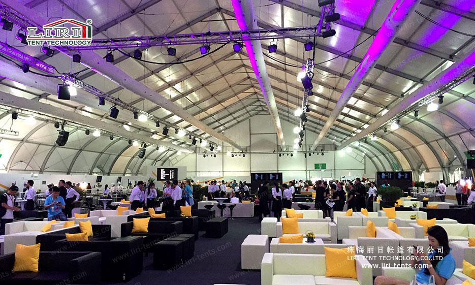 Special Event Tent interior