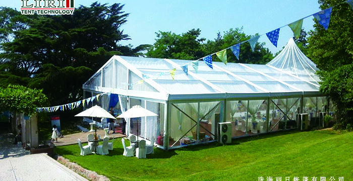 12m clear span high peak tent with waterproof PVC roof cover for party wedding